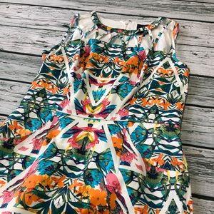 Adrianna Papell floral summer dress Sz 6